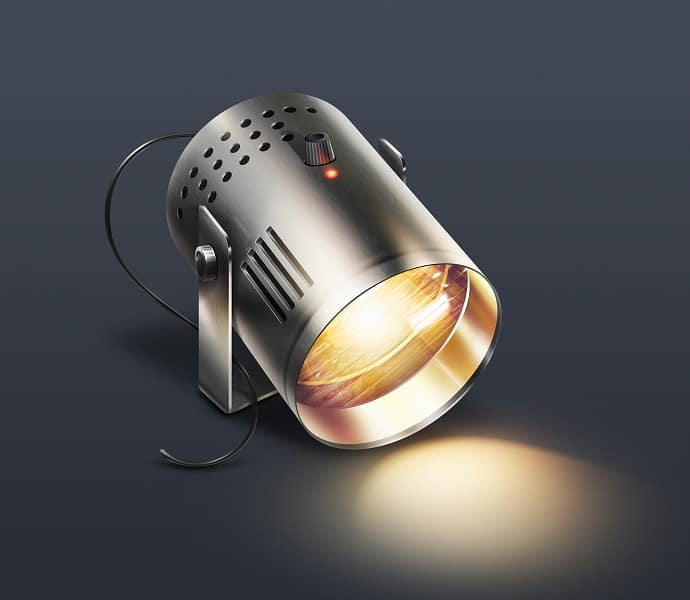 Image of a spotlight lighting the floor