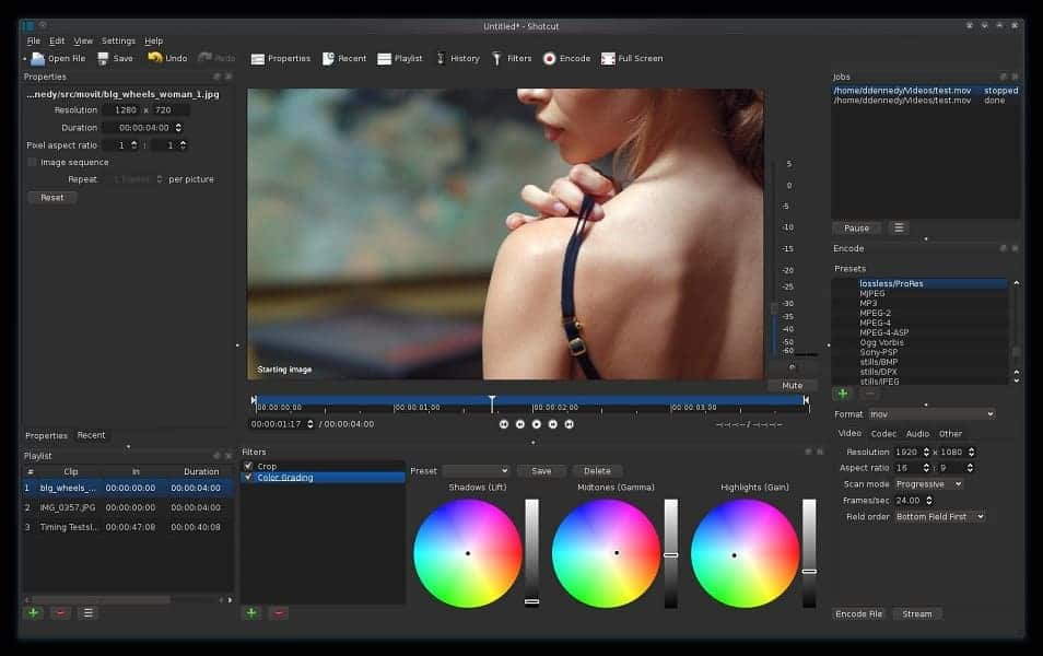 Image of a 4K video editing software