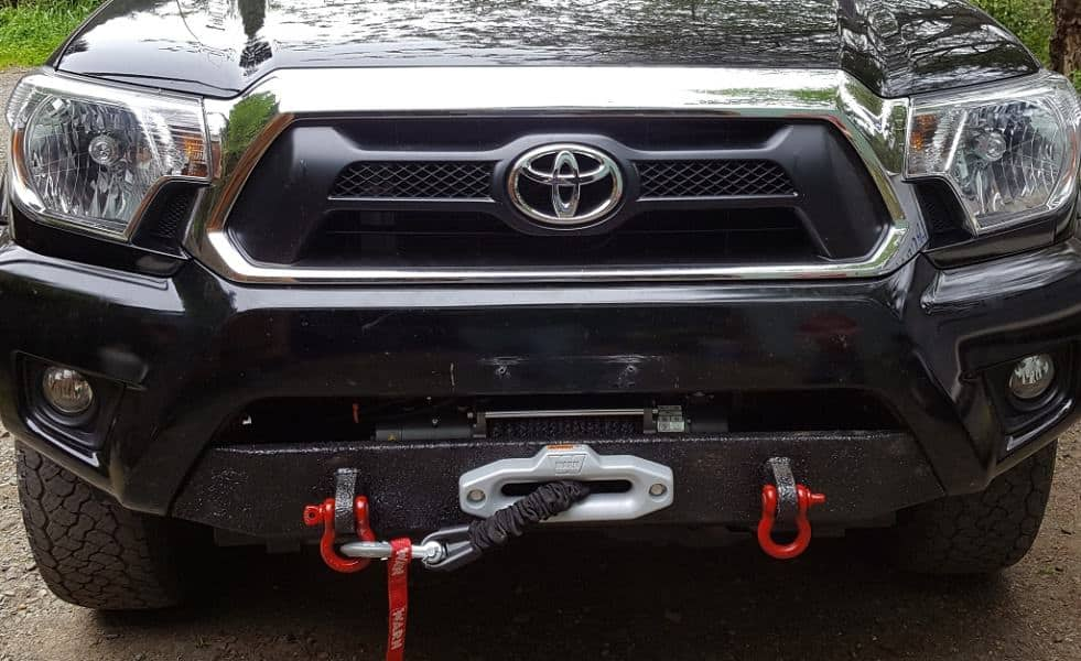 Picture of a winch installed on a Toyota vehicle