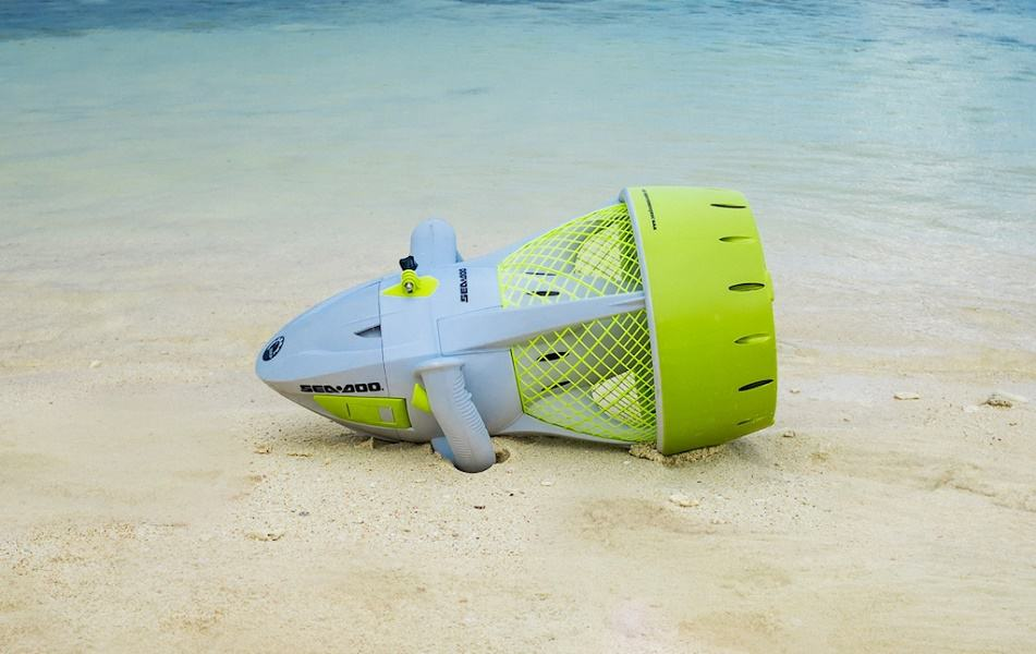 Image of an underwater scooter ashore