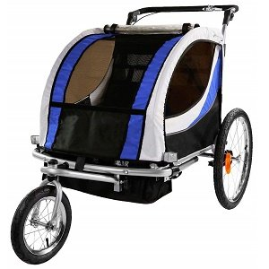 Clevr Blue Collapsible Double Trailer