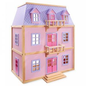 Melissa & Doug Multi-Level Wooden Dollhouse Image