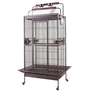 Mcage Large Wrought Iron Parrot Cage